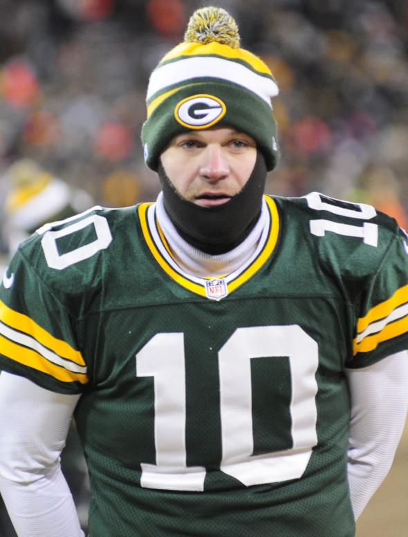 Could Matt Flynn have played his final game for the Green Bay Packers? Raymond T. Rivard photograph