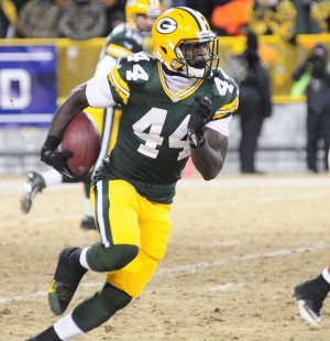 James Starks in the 2014 Playoff Game against the 49ers. Raymond T. Rivard photograph