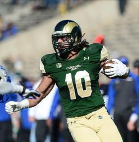 Colorado State Rams tight end Crockett Gillmore (10). Ron Chenoy-USA TODAY Sports