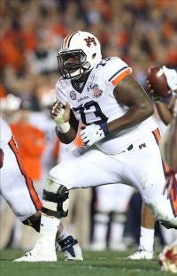 Auburn Tigers tackle Greg Robinson (73). Matthew Emmons-USA TODAY Sports