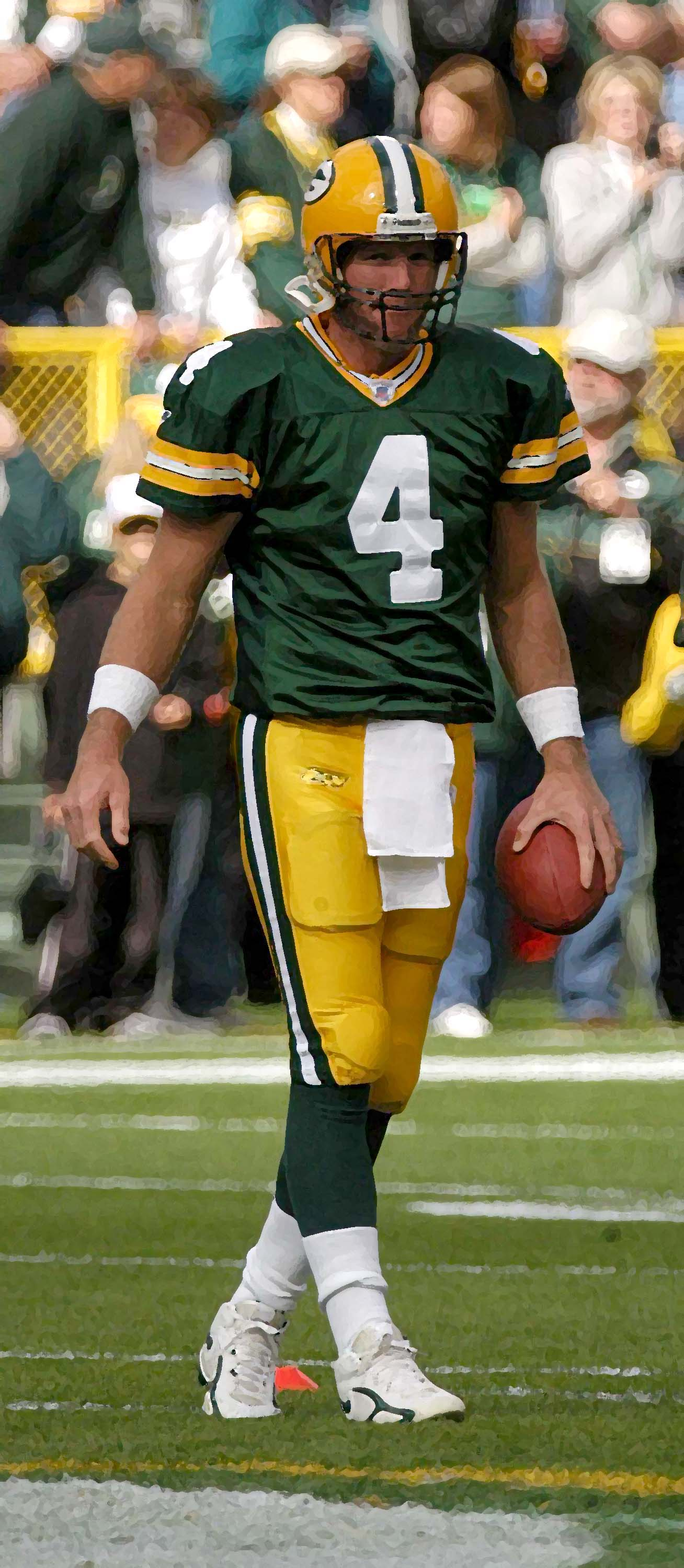 Brett Favre led the Green Bay Packers to a win in Super Bowl XXXI. Raymond T. Rivard photograph