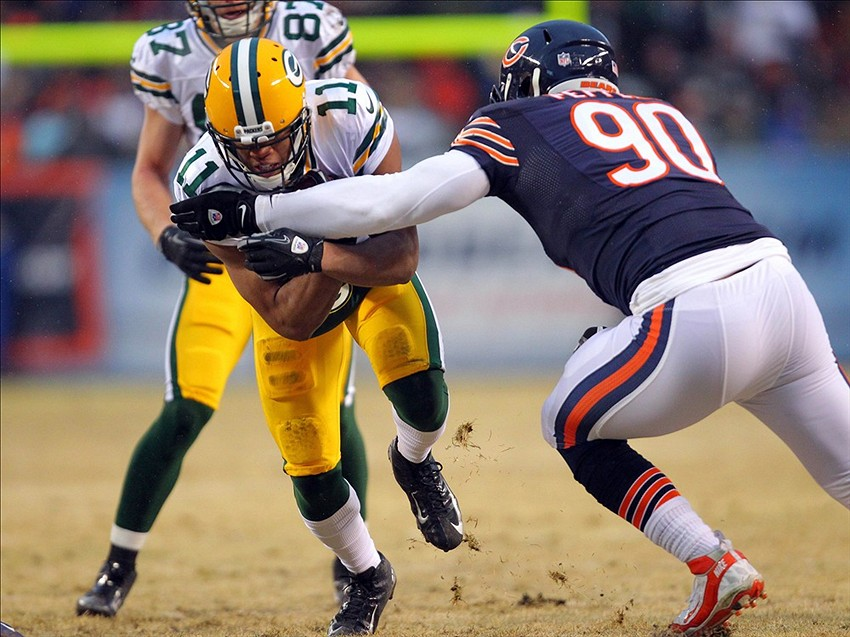 Julius Peppers won't have to chase Packers players anymore. Dennis Wierzbicki-USA TODAY Sports photograph