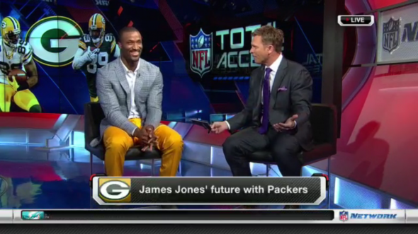 James Jones on the NFL Network talked about his future. Photo courtesy of NFL Network
