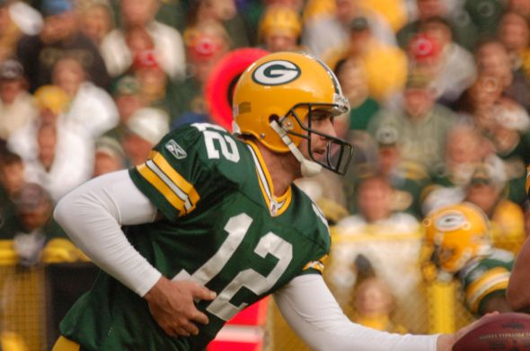 Aaron Rodgers will lead the Green Bay Packers into the 2014 season. Raymond T. Rivard photograph