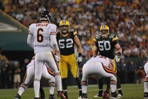 With the addition of Julius Peppers, it should help make life easier for Clay Matthews. Raymond T. Rivard photograph