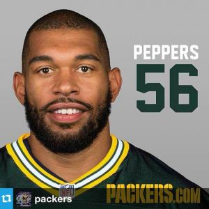 Julius Peppers will wear number 56 in 2014 with his new team - the Green Bay Packers. Photo courtesy of packers.com