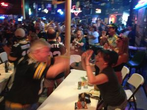 Houston Packer fans celebrate at CHPH North