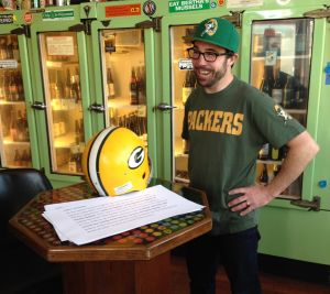 Patrick Hughes is giddy about the chance to write about fans of the Green Bay Packers.