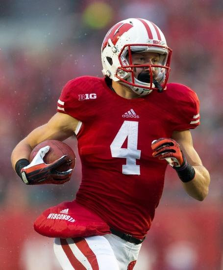 Jared Abbrederis (4) during the game against the Indiana Hoosiers at Camp Randall Stadium. Wisconsin won 51-3. Jeff Hanisch-USA TODAY Sports