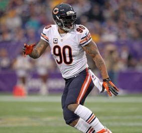 Chicago Bears defensive end Julius Peppers (90). Brace Hemmelgarn-USA TODAY Sports