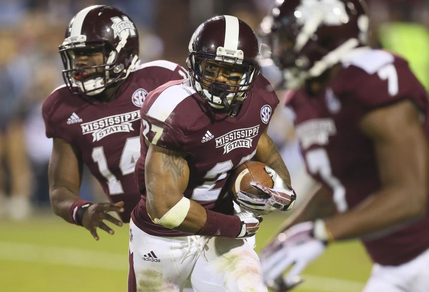 Mississippi State Bulldogs running back LaDarius Perkins Spruce Derden-USA TODAY Sports photograph