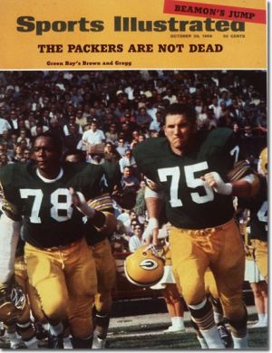 Bob Brown and Forrest Gregg take the field for the Packers. Sports Illustrated photograph