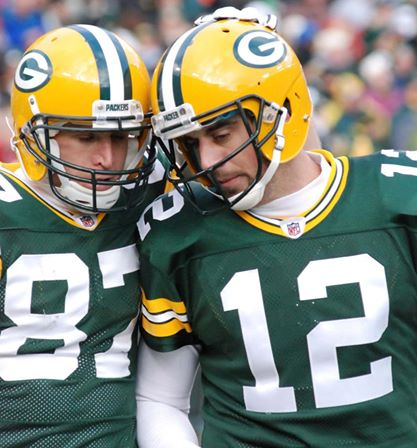 The Aaron Rodgers and Jordy Nelson connection is the best in the NFL right now. Raymond T. Rivard photograph