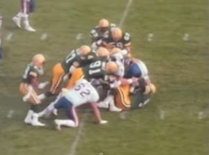 Brian Noble was part of a linebacking crew that caused serious problems for offenses. Photo courtesy of YouTuube