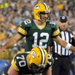 Aaron Rodgers. Jim Oxley photograph