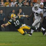 Matt Flynn - if reports are correct, he will be on the Packers' 53-man roster along with Scott Tolzien and Aaron Rodgers. Jim Oxley photograph