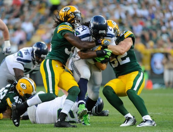 Seattle Seahawks running back Marshawn Lynch will be a big concern for th Packers Thursday night. Tell us how the Packers stop this guy … Benny Sieu-USA TODAY Sports