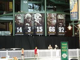 Tony Canadeo, #3, is a select member of a distinguished group of players who have had their numbers retired.