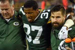 Sam Shields is out against the Cowboys. Benny Sieu-USA TODAY Sports