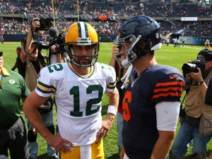 Sep 13, 2015; Chicago, IL, USA; Green Bay Packers quarterback <a rel=