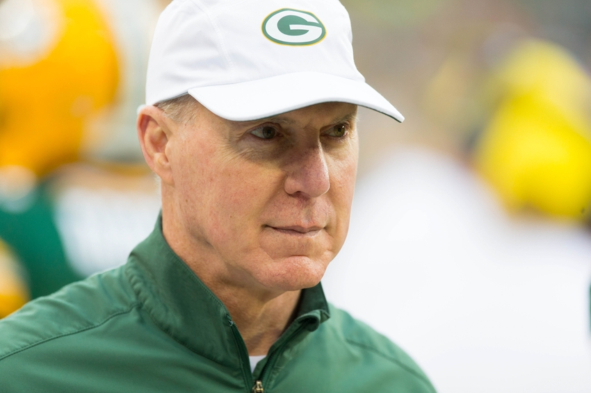 Aug 28, 2014; Green Bay, WI, USA; Green Bay Packers general manager Ted Thompson looks on during warmups prior to the game against the Kansas City Chiefs at Lambeau Field. Mandatory Credit: Jeff Hanisch-USA TODAY Sports