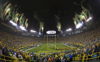 Nov 26, 2015; Green Bay, WI, USA; General view of Lambeau Field prior to the NFL game between the Chicago Bears and Green Bay Packers on Thanksgiving. Mandatory Credit: Jeff Hanisch-USA TODAY Sports