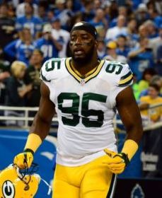 Green Bay Packers defensive end Datone Jones (95) against the Detroit Lions at Ford Field. Mandatory Credit: Andrew Weber-USA TODAY Sports