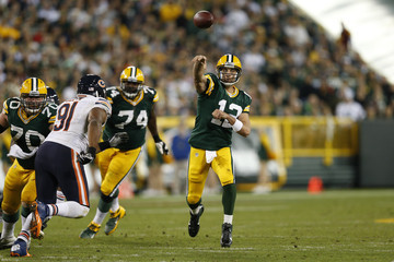 Aaron Rodgers Chicago Bears v Green Bay Packers
