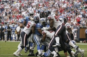 The Lions and Texans last met on Oct 19, 2007. It's likely the next time will be Thanksgiving Day 2012. Photo Credit: Brett Davis-US PRESSWIRE