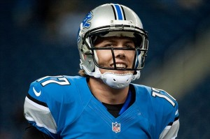 Aug 10, 2012; Detroit, MI, USA; Detroit Lions quarterback Kellen Moore (17) warms up before the preseason game against the Cleveland Browns at Ford Field. Mandatory Credit: Tim Fuller-US PRESSWIRE