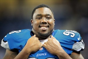 August 10, 2012; Detroit, MI, USA; Detroit Lions defensive tackle Nick Fairley (98) on sidelines during the second half between the Detroit Lions and the Cleveland Browns at Ford Field. Mandatory Credit: Mike Carter-US PRESSWIRE