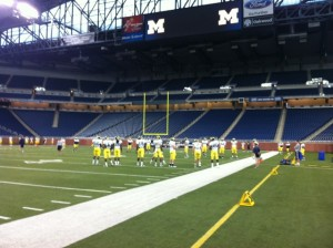 UM Practice at Ford Field