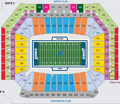 Detroit Lions Seating Map Submited Images