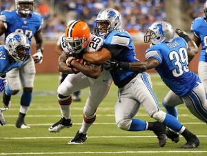 Detroit Lions linebacker Travis Lewis. Credit: Mike Carter-USA TODAY Sports