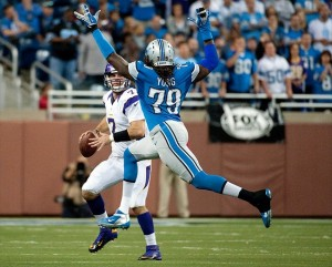 Detroit Lions defensive end Willie Young Credit: Tim Fuller-USA TODAY Sports
