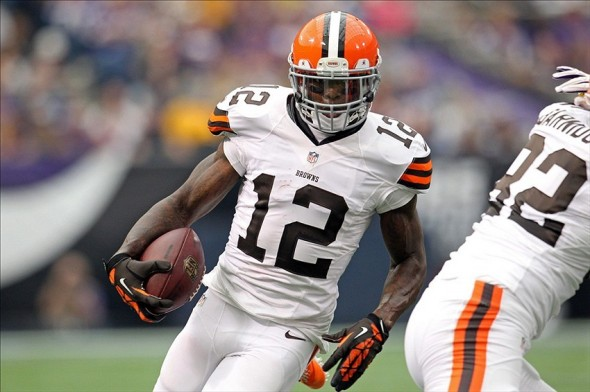Josh Gordon with the Cleveland Browns