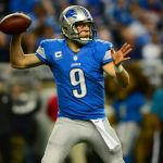 Dec 16, 2013; Detroit, MI, USA; Detroit Lions quarterback Matthew Stafford (9) against the Baltimore Ravens at Ford Field. Mandatory Credit: Andrew Weber-USA TODAY Sports