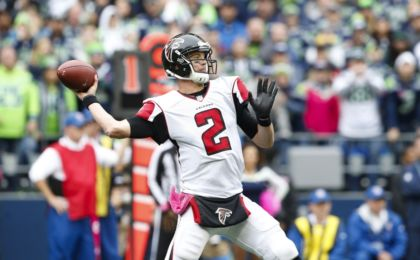 Oct 16, 2016; Seattle, WA, USA; Atlanta Falcons quarterback Matt Ryan (2) passes against the Seattle Seahawks during the third quarter at CenturyLink Field. Mandatory Credit: Joe Nicholson-USA TODAY Sports