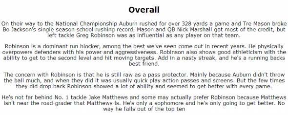 Robinson Profile 2 (NFL Draft Geek)