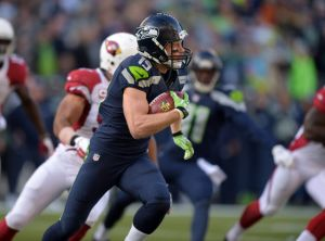 Nov 23, 2014; Seattle, WA, USA; Seattle Seahawks receiver Bryan Walters (19) against the Arizona Cardinals at CenturyLink Field. Mandatory Credit: Kirby Lee-USA TODAY Sports