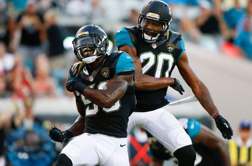Captivating Aug 20, 2016; Jacksonville, FL, USA; Jacksonville Jaguars Outside  Linebacker Telvin Smith (50) And Cornerback Jalen Ramsey (20) Celebrate  During The First ...