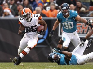 Running back Chris Ogbonnaya has played well for the Browns in recent weeks, but don't expect it to turn into long-term success. (Matt Sullivan/Getty Images)