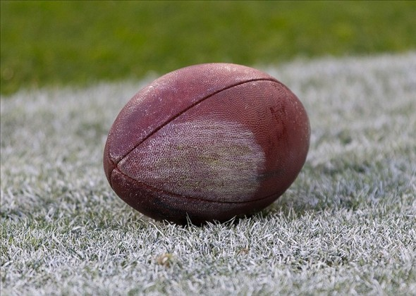 Oct 20, 2013; Green Bay, WI, USA; An NFL Football sits on the sidelines during the game between the Cleveland Browns and Green Bay Packers at Lambeau Field. Green Bay won 31-13. Mandatory Credit: Jeff Hanisch-USA TODAY Sports