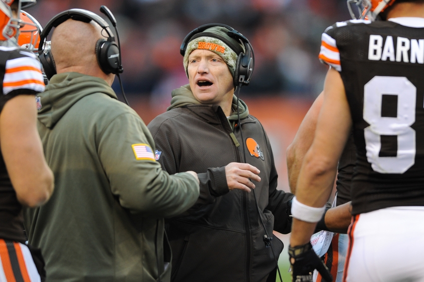 Nov 16, 2014; Cleveland, OH, USA; Cleveland Browns special teams coordinator Chris Tabor at FirstEnergy Stadium. Mandatory Credit: Ken Blaze-USA TODAY Sports