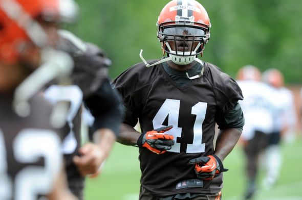 May 26, 2015; Berea, OH, USA; Cleveland Browns running back <a rel=