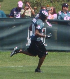 Eagles WR DeSean Jackson prior to his injury during Saturday's afternoon practice.