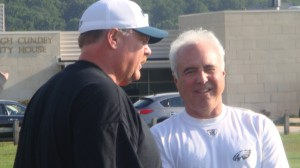 Eagles head coach Andy Reid and owner Jeffrey Lurie have a young team in 2010.