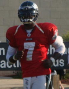 Eagles backup QB Mike Vick was impressive in this morning's practice.