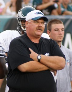 Eagles head coach Andy Reid at the start of Flight Night.