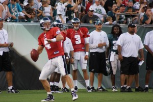 Kevin Kolb throws a pass during Flight Night.